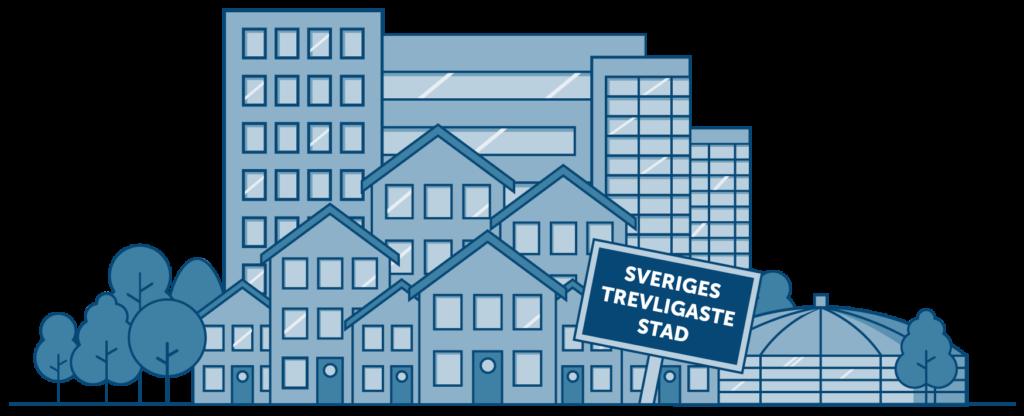 Illustration av Borlänge Stad